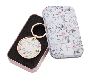 Trust In The Lord Keyring in Tin