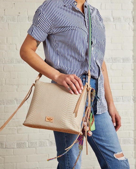 Consuela Downtown Crossbody - Thunderbird Crema Snake
