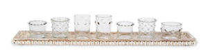 Votive Holders On Beaded Tray