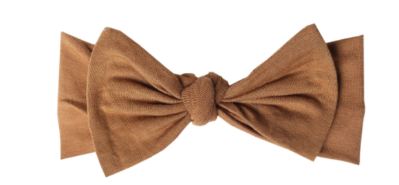Copper Pearl Camel Headband Bow