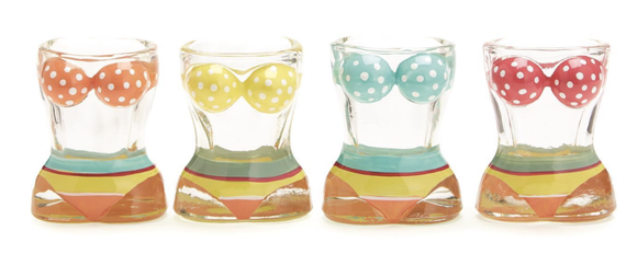 Bathing Beauties Set of Four Shot Glasses