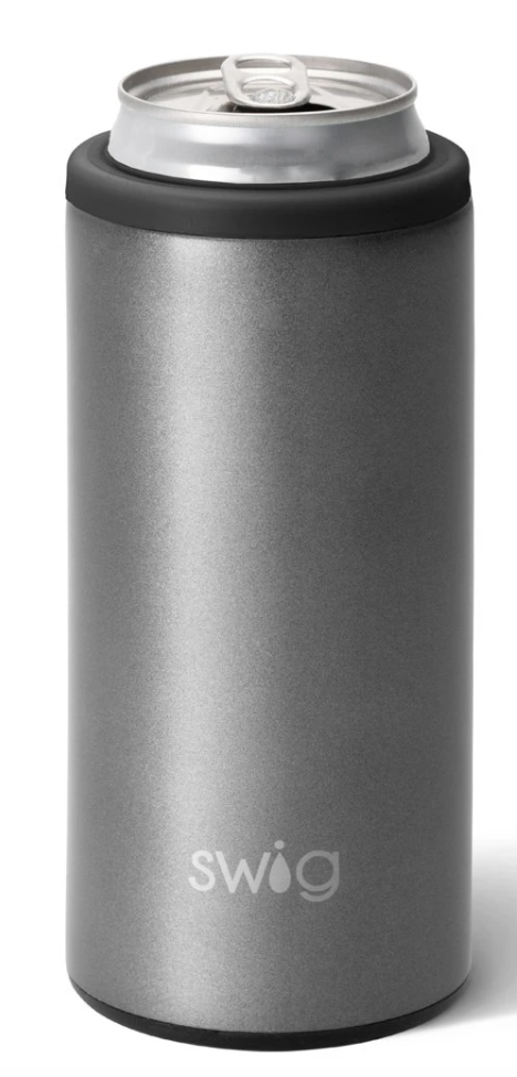 Swig 12 oz Graphite Skinny Can Cooler