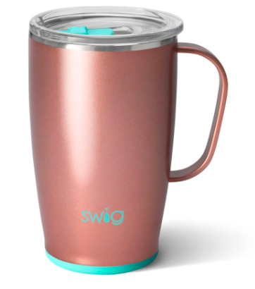 18oz Coffee Mug- Rose Gold