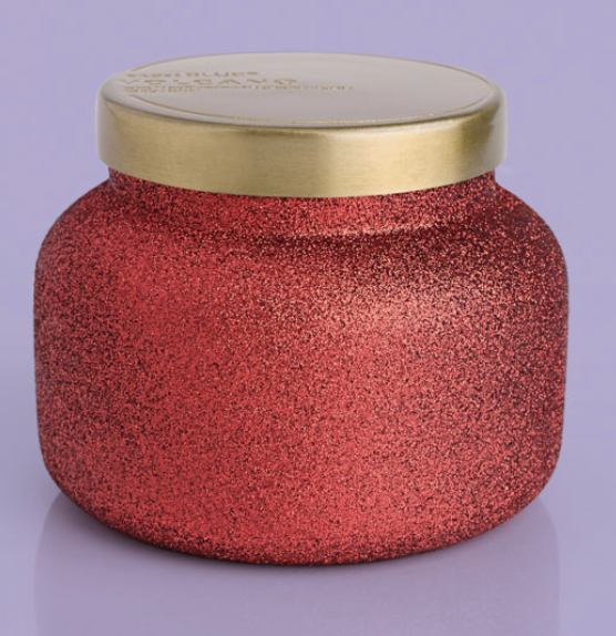 Red Glitter 19 oz Volcano Candle