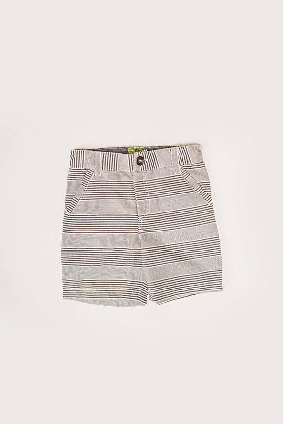 B&W Stripe Poplin Short
