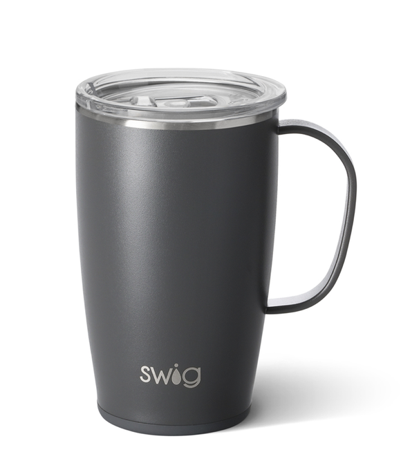Swig Matte Grey 18 oz Mug
