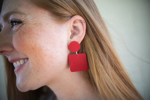 Lee Red Earring