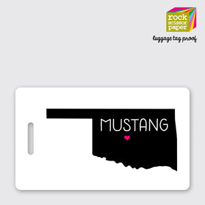 Mustang Luggage Tag
