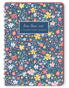 Navy Floral Food Journal