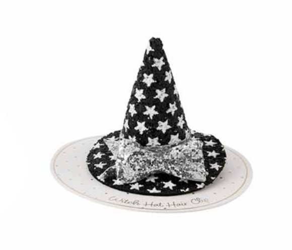 Silver Bow Witch Hat