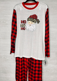 Leopard Santa Buffalo Plaid PJ Set