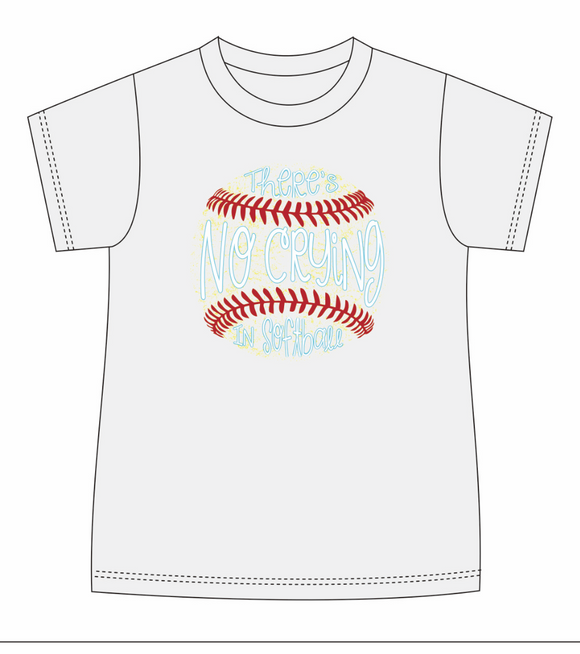 Theres no Crying in Softball T-Shirt