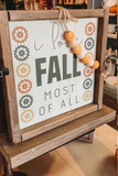 Fall Sign Decor w/ Beads