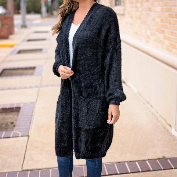 Chloe Textured Long Cardigan