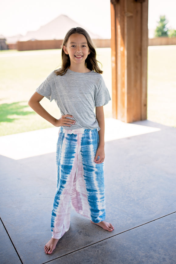 Girls Cotton Candy Wide Leg Pants