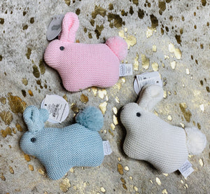 Knit Bunny Rattles