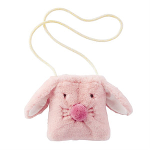 Pink Plush Bunny Purse