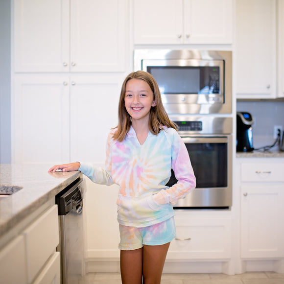 Girls Sorbet Tie Dye Burnout Shorts