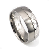 Simple design titanium ring Fit Man vertical view