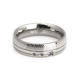 Titanium Rings, hand crafted design Wedding Bands for Her horizontal view