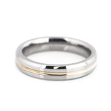 wedding ring with rose gold for women