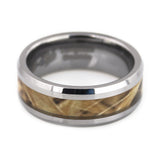 Tungsten ring Beveled, Camouflage Inlay for Man horizontal view