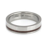 wooden titanium wedding band