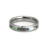 Mother of pearl inlay tungsten ring for women