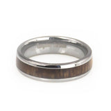 Women's KOA wood inlay tungsten wedding bands dome 4 mm-wedding/anniversary