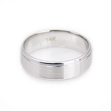 14k solid white gold 6mm comfort fit mens wedding bands