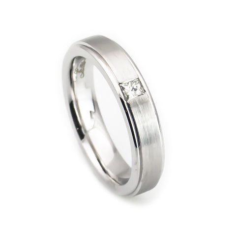 14k white gold women's wedding band