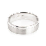 14k white gold wedding band comfort fit