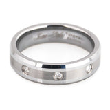 Diamond tungsten ring