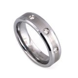 Diamond tungsten wedding band
