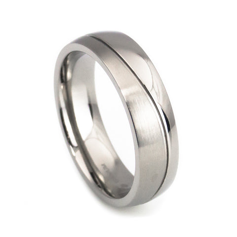 Simple design titanium wedding rings for men Anniversary Rings
