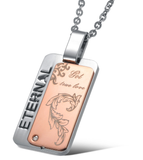 Rose gold plated steel pendant for women
