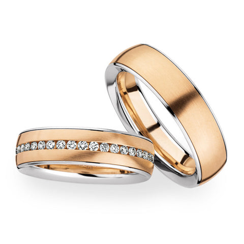 Gold wedding bands set