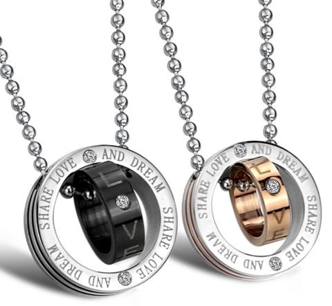 Circle stainless steel necklace sets