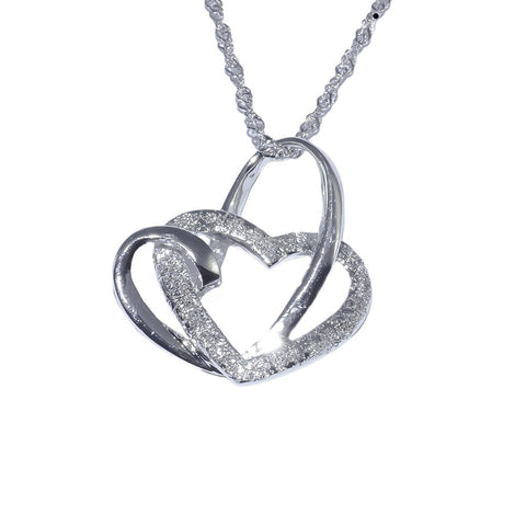 Elegant Heart Shaped Pendant  in Sterling Silver tio view