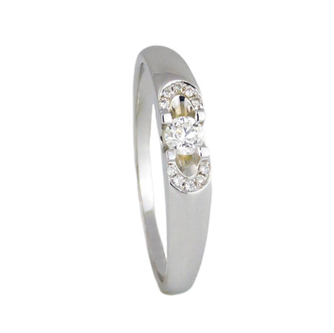 18k white gold women's diamond 0.34 ct/HSI wedding band