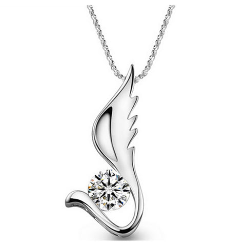 White Zircon Sterling Silver necklaces top view