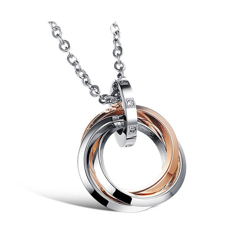 Rose Gold Plating Stainless Steel Pendant with Necklace top view