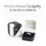14 K White Gold clean mens and womens wedding bands set