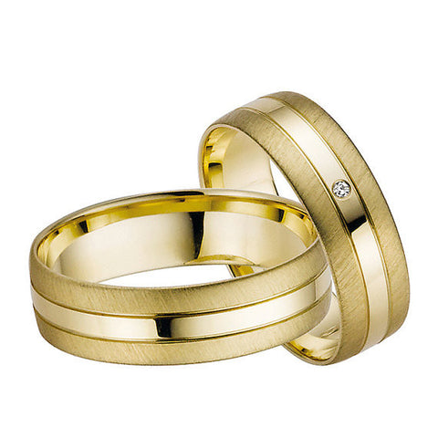 Gold Diamonds Wedding Bands
