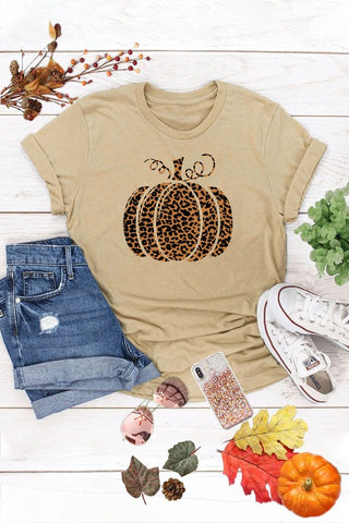 Cheetah Print Pumpkin Graphic Tee