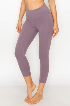 High Waist Control Stretch Capri Leggings