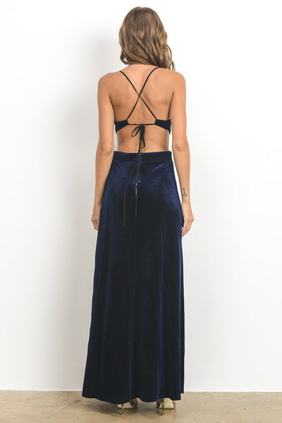 Dresses, Velvet Cut-Out Open Back Dress, www.SayMoreBoutique.com, Hommage