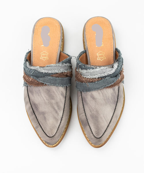 Mules, Fabric Wrapped Vintage Loafer/Mule, Say More Boutique, MiiM