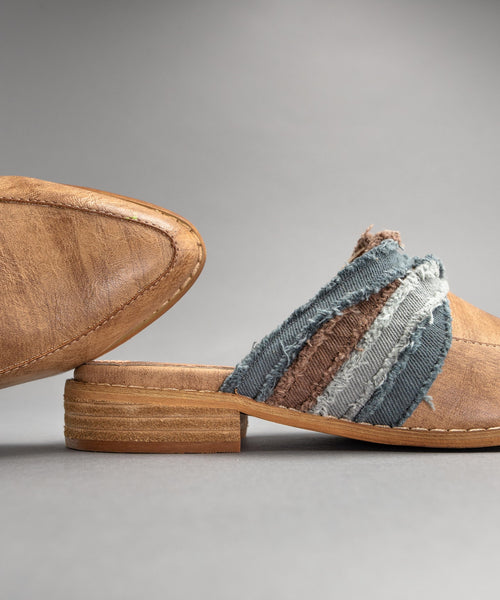 Mules, Fabric Wrapped Vintage Loafer/Mule, www.SayMoreBoutique.com, MiiM