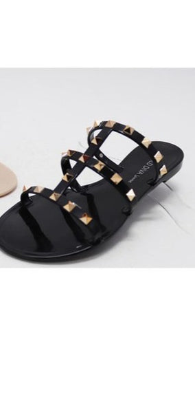 Sandals, Studded Sandals, Say More Boutique, Ccocci